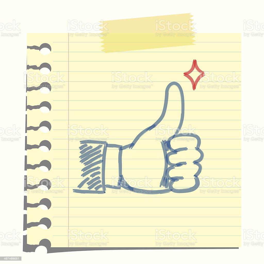 thumb up note royalty-free stock vector art