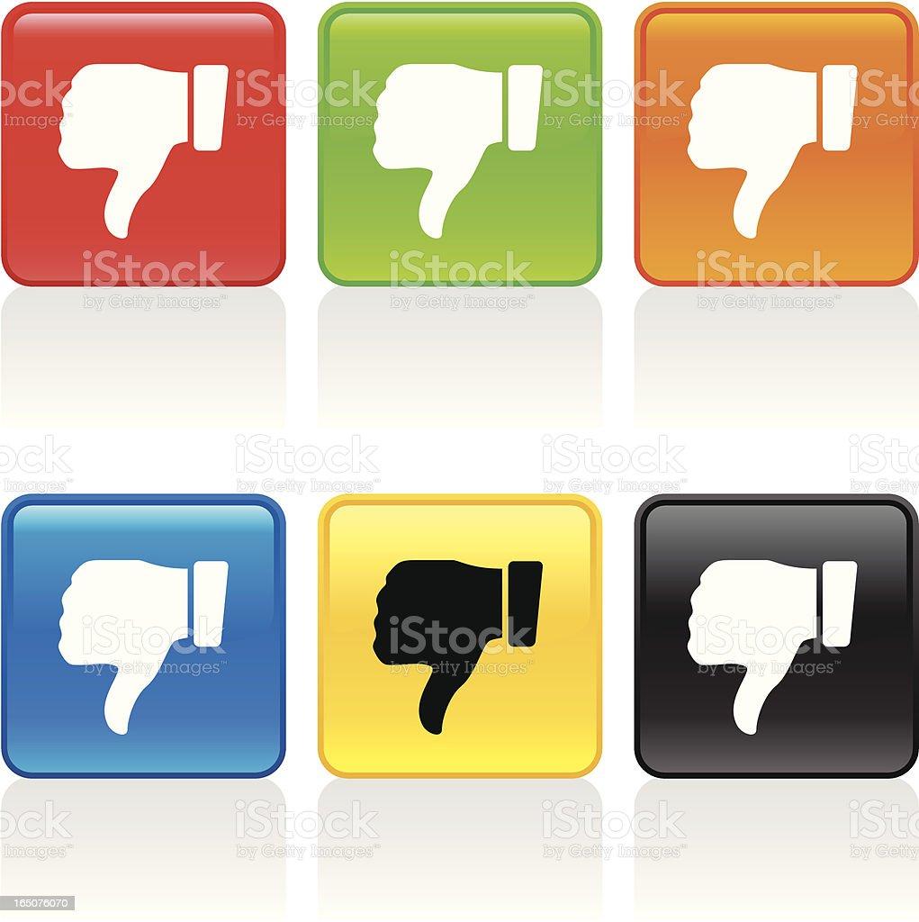 Thumbs Down Icon vector art illustration