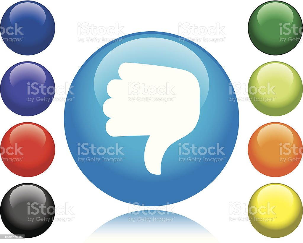Thumbs Down Icon royalty-free stock vector art