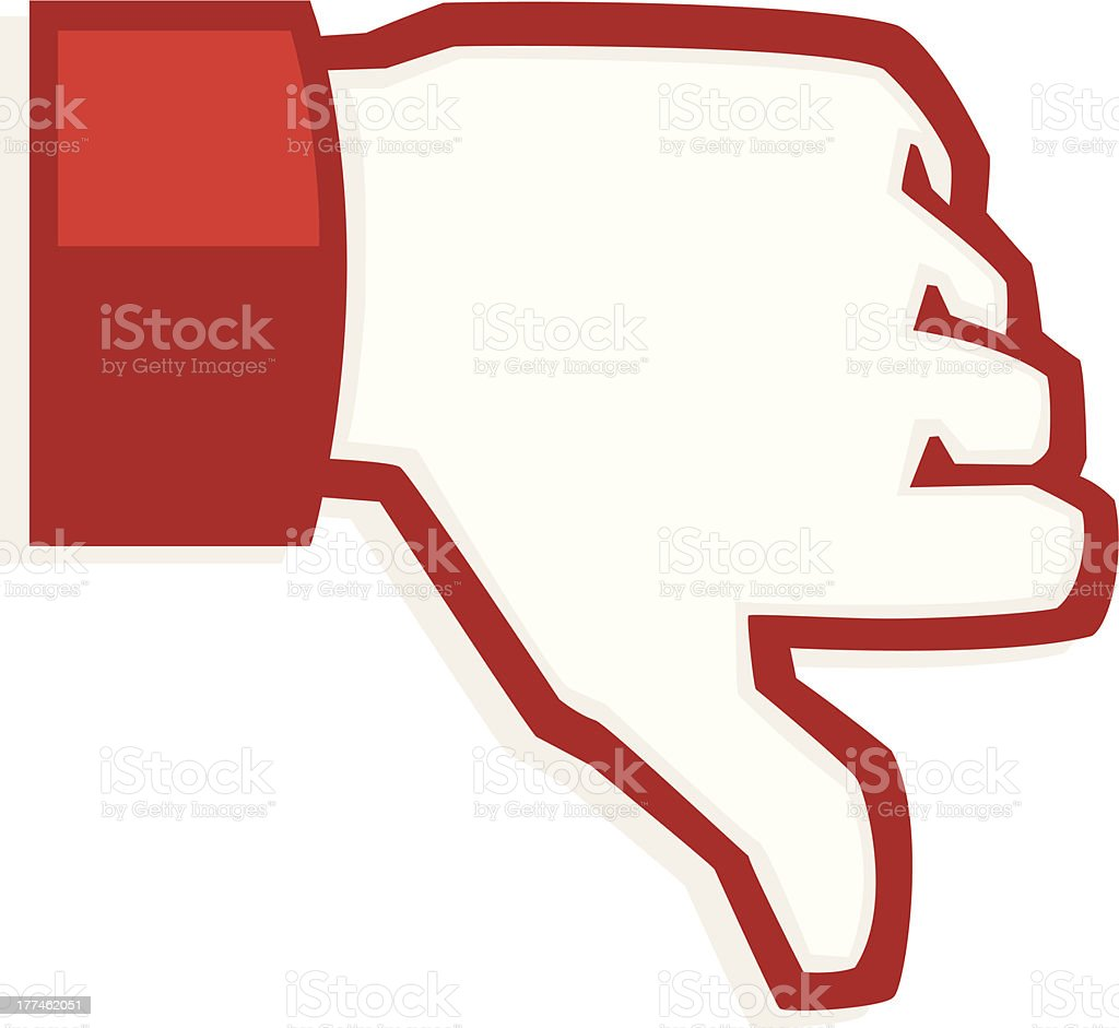 thumbs down vector art illustration