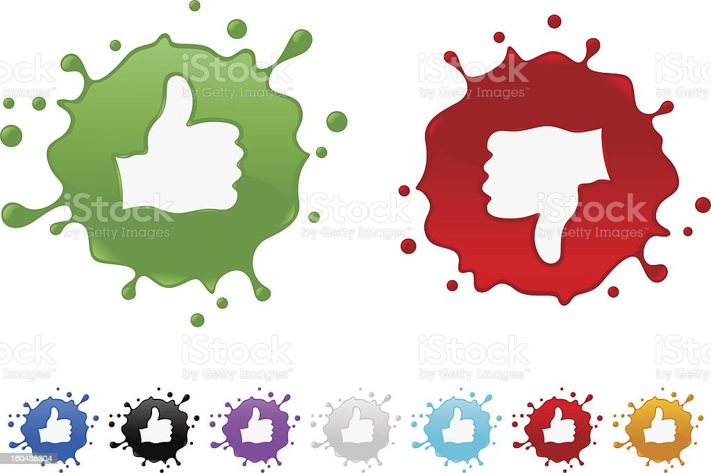 thumbs up and down splash royalty-free stock vector art