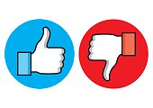 Thumbs up and Thumbs down icons