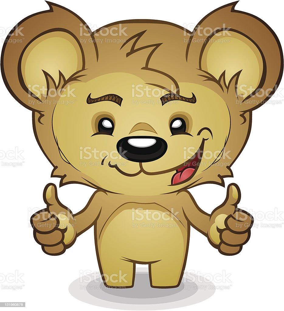 Thumbs Up Bear vector art illustration