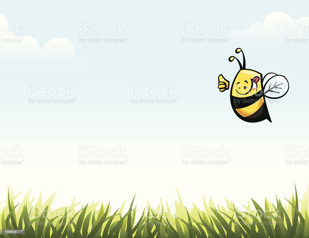 Thumbs up bee. royalty-free stock vector art