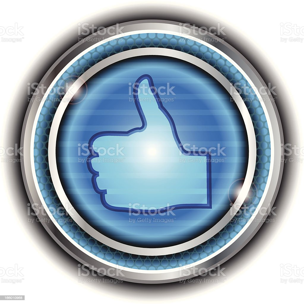 Thumbs Up Button royalty-free stock vector art