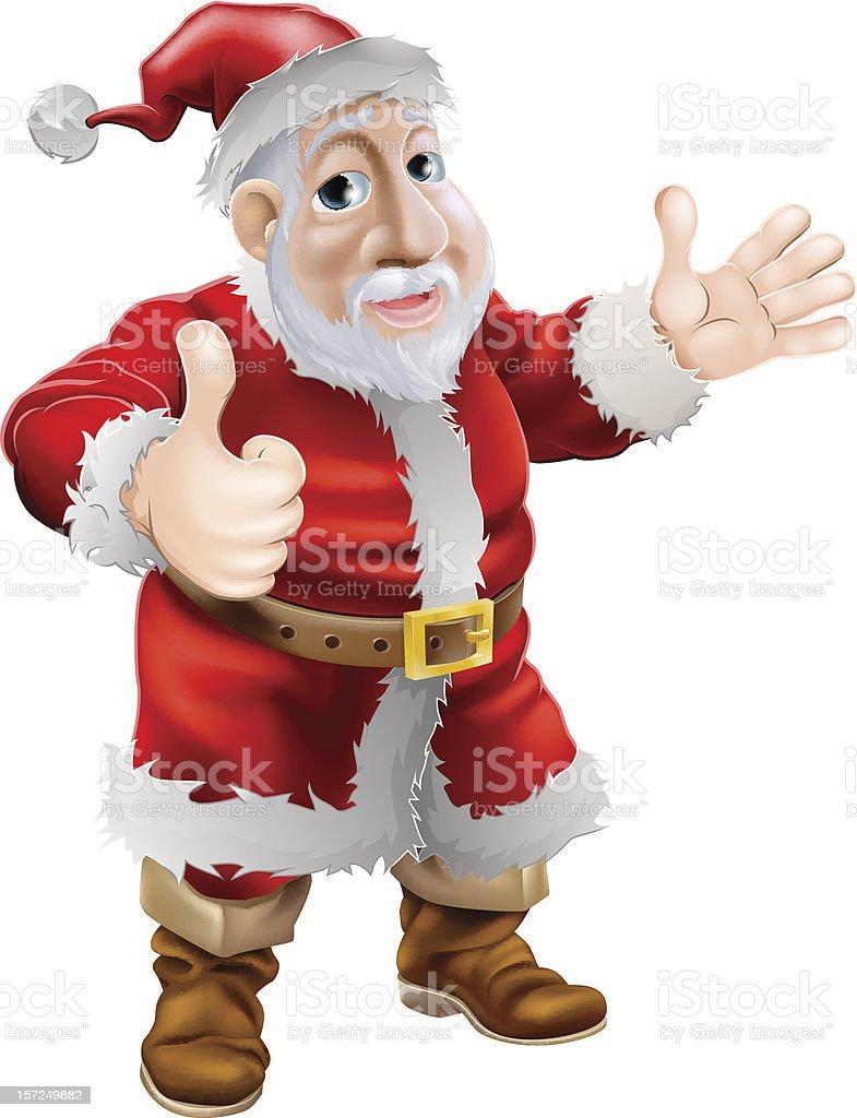 Thumbs up cartoon Santa royalty-free stock vector art
