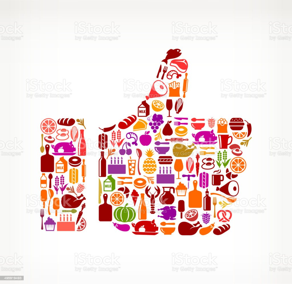 Thumbs Up on royalty free vector icons Food and Drink. The vector...