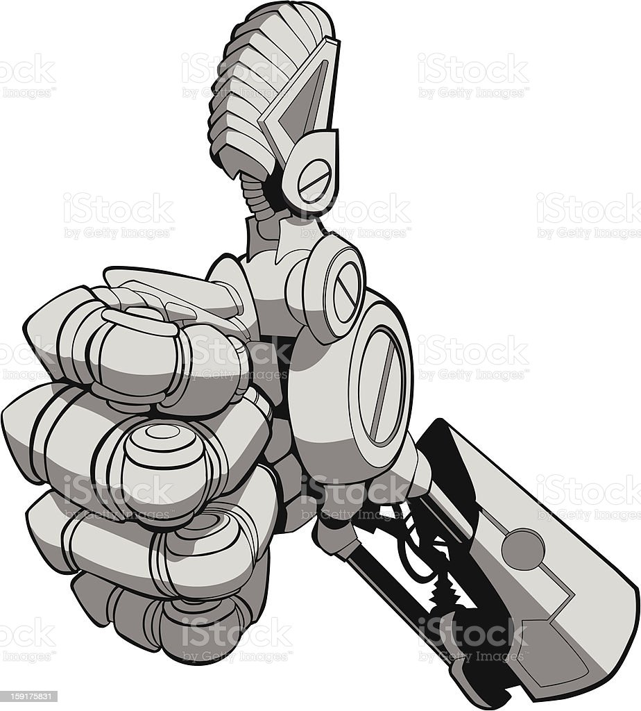 Thumbs Up Future vector art illustration