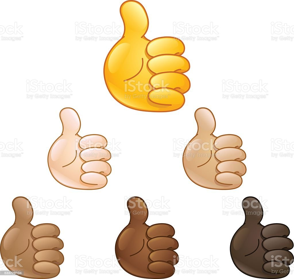thumbs up hand emoji vector art illustration