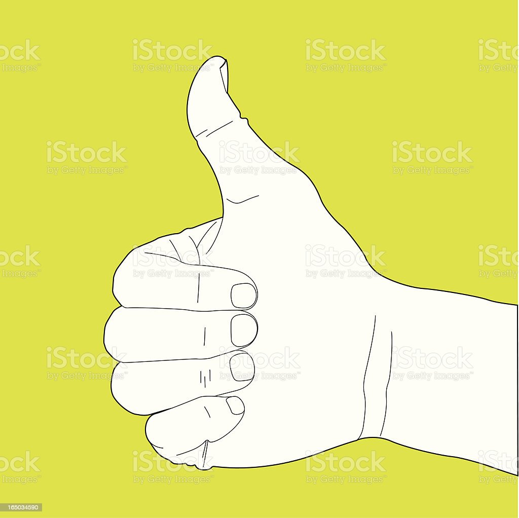 Thumbs Up Hand Gesture royalty-free stock vector art