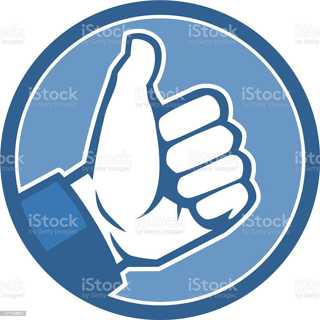 thumbs up icon vector art illustration