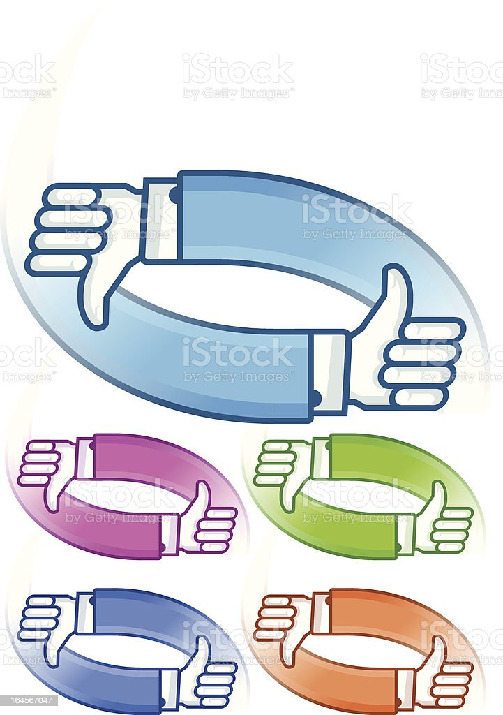 thumbs up in colors royalty-free stock vector art