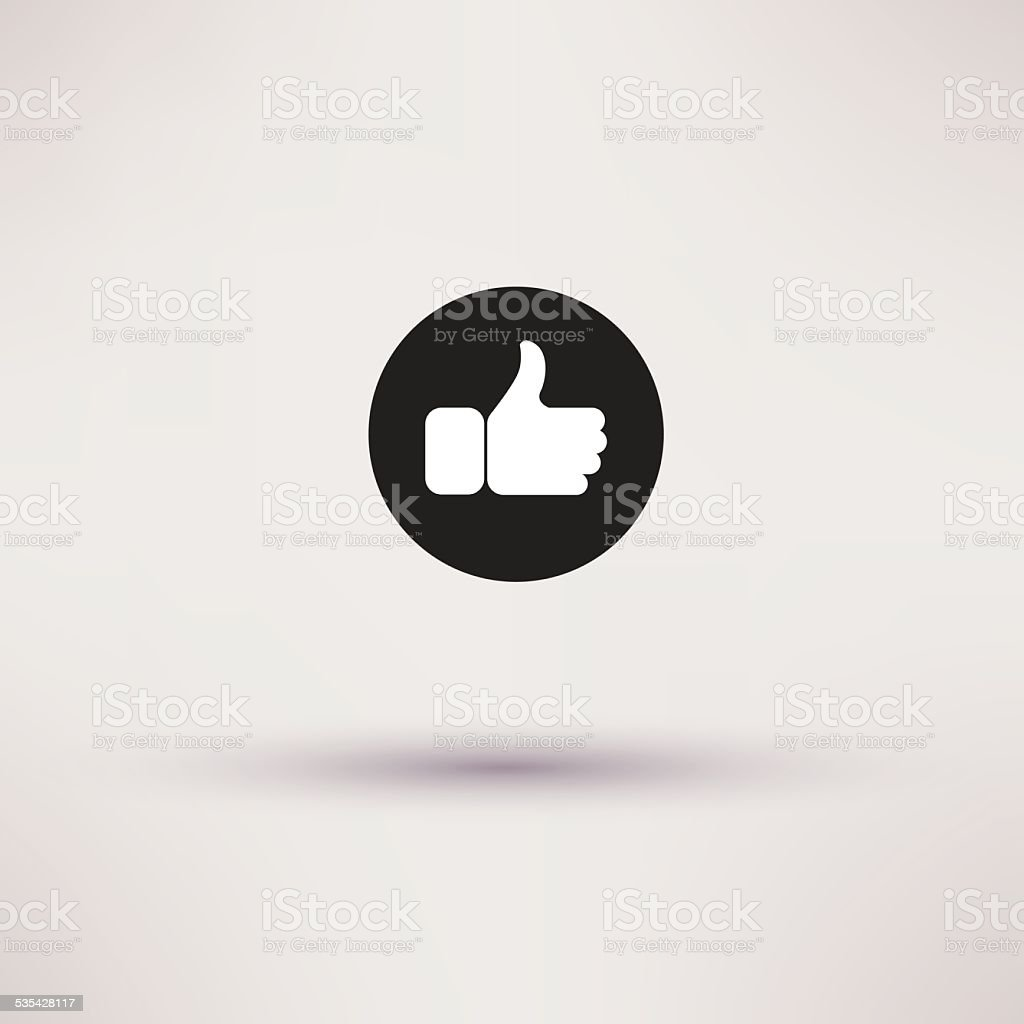 Thumbs up like modern icon, flat style. vector art illustration