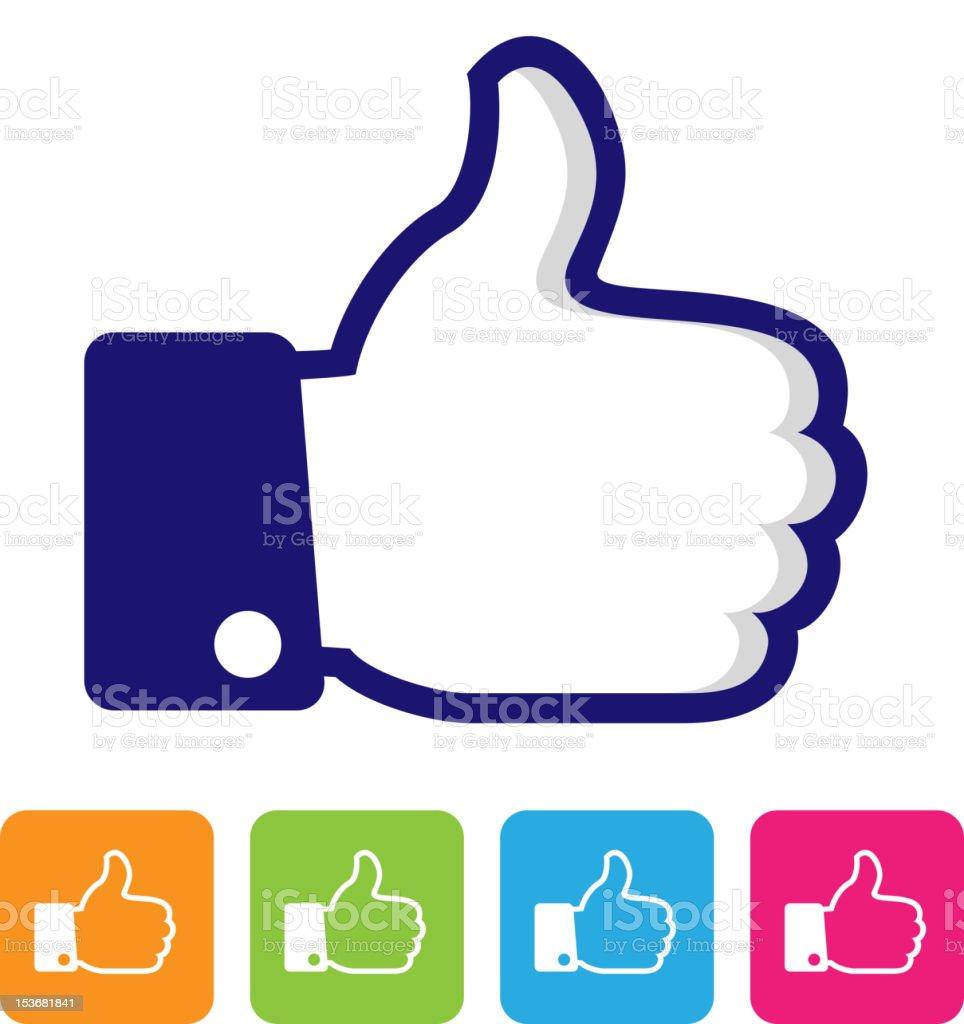 thumbs up like symbol vector art illustration
