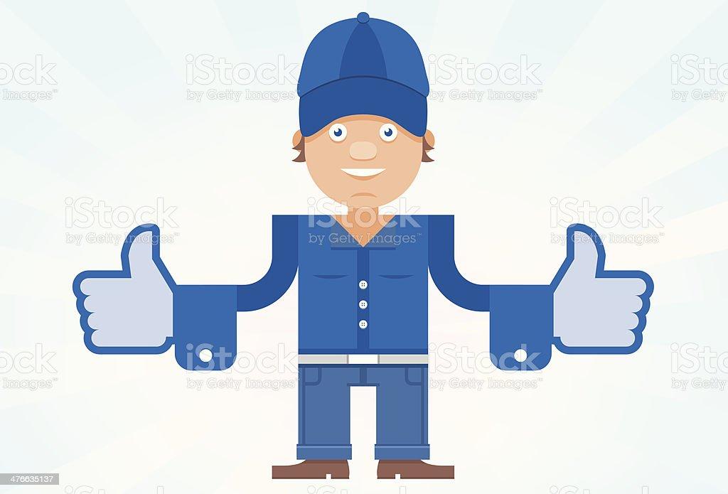Thumbs up man royalty-free stock vector art