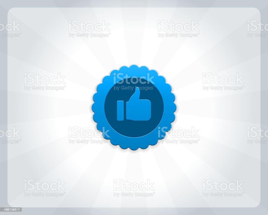 Thumbs up or like button vector art illustration
