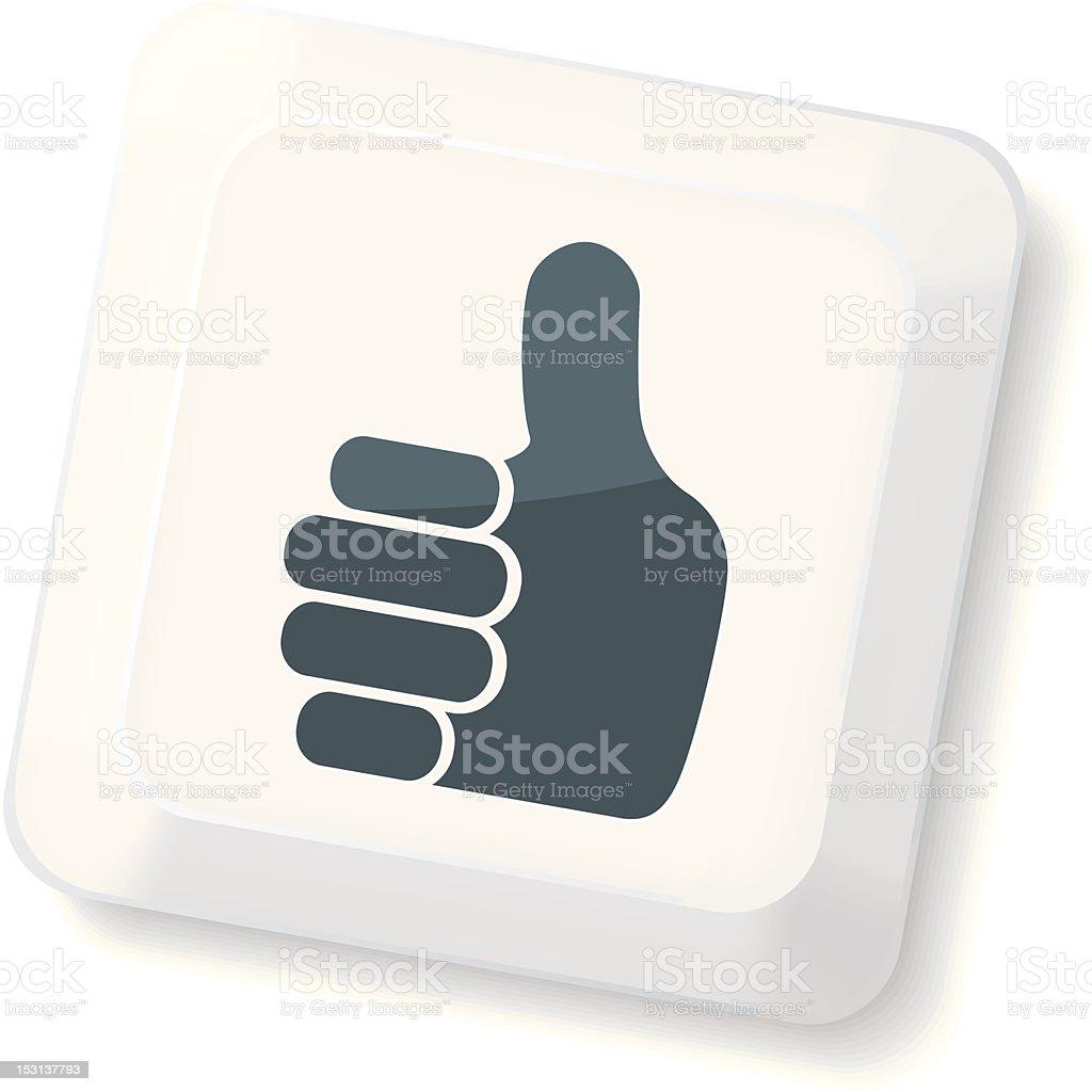 Thumb`s Up Sign Key royalty-free stock vector art