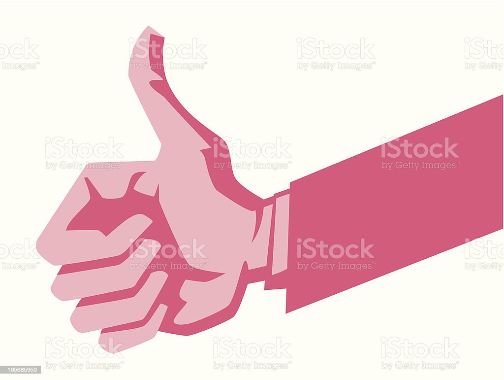 Thumbs up sign royalty-free stock vector art