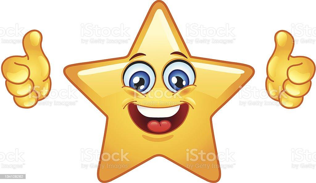 Thumbs up star royalty-free stock vector art