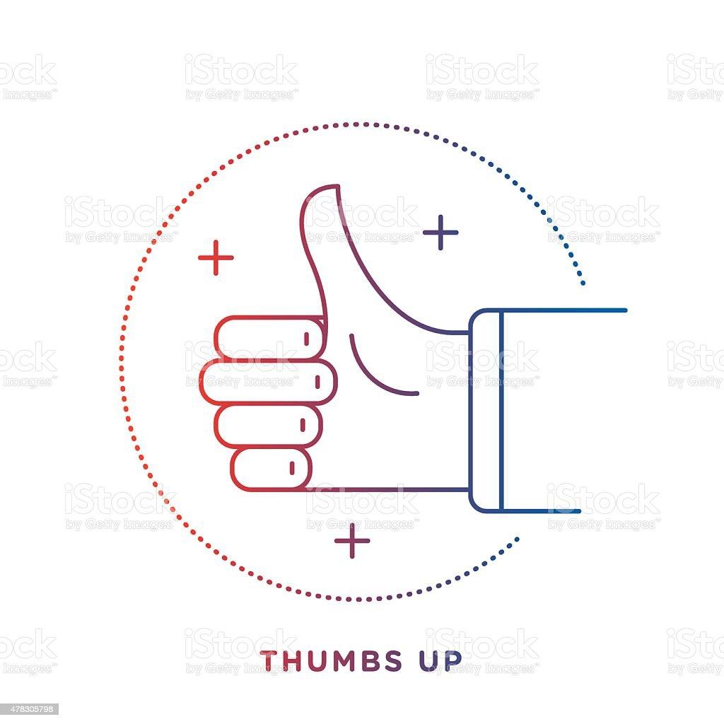 Thumbs Up Symbol vector art illustration