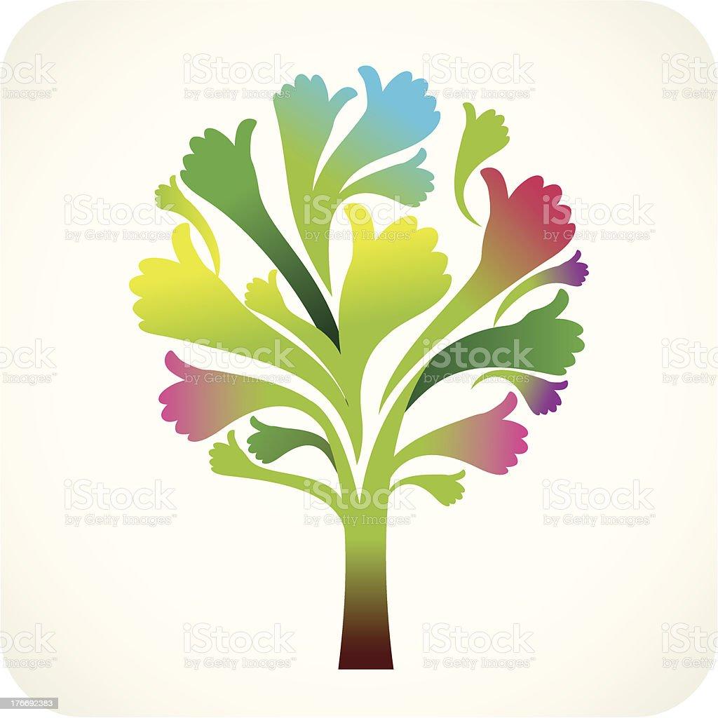 Thumbs Up Tree royalty-free stock vector art