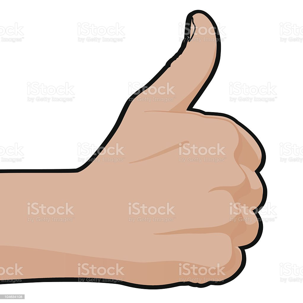 Thumbs Up royalty-free stock vector art