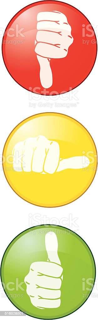 Thumbs Up! vector art illustration