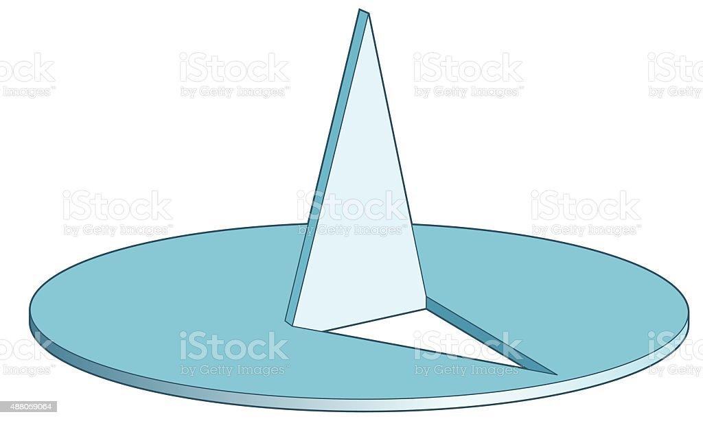 Thumbtack vector art illustration