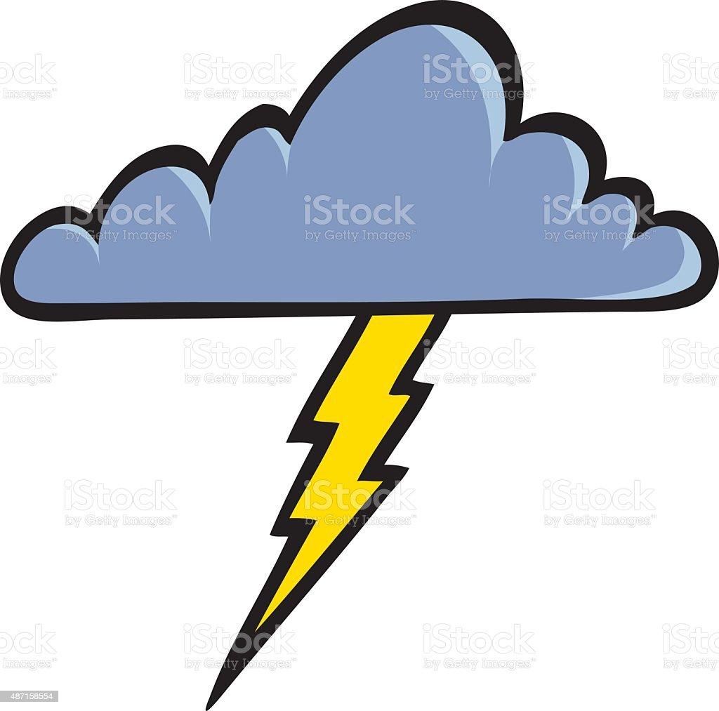 Thunder Cloud vector art illustration