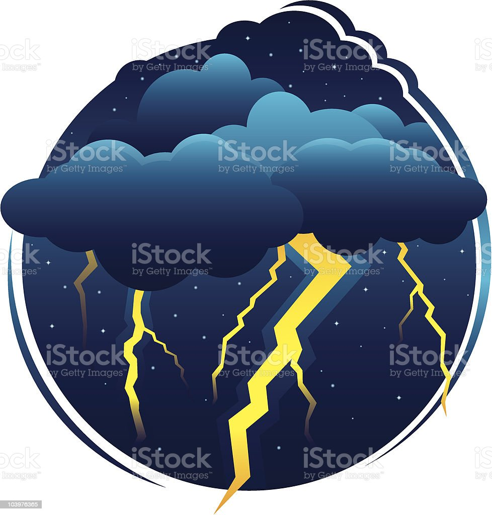 Thunder Clouds royalty-free stock vector art