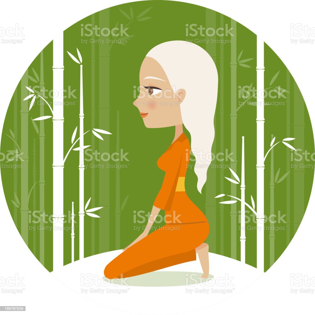 Thunderbolt yoga pose vector art illustration