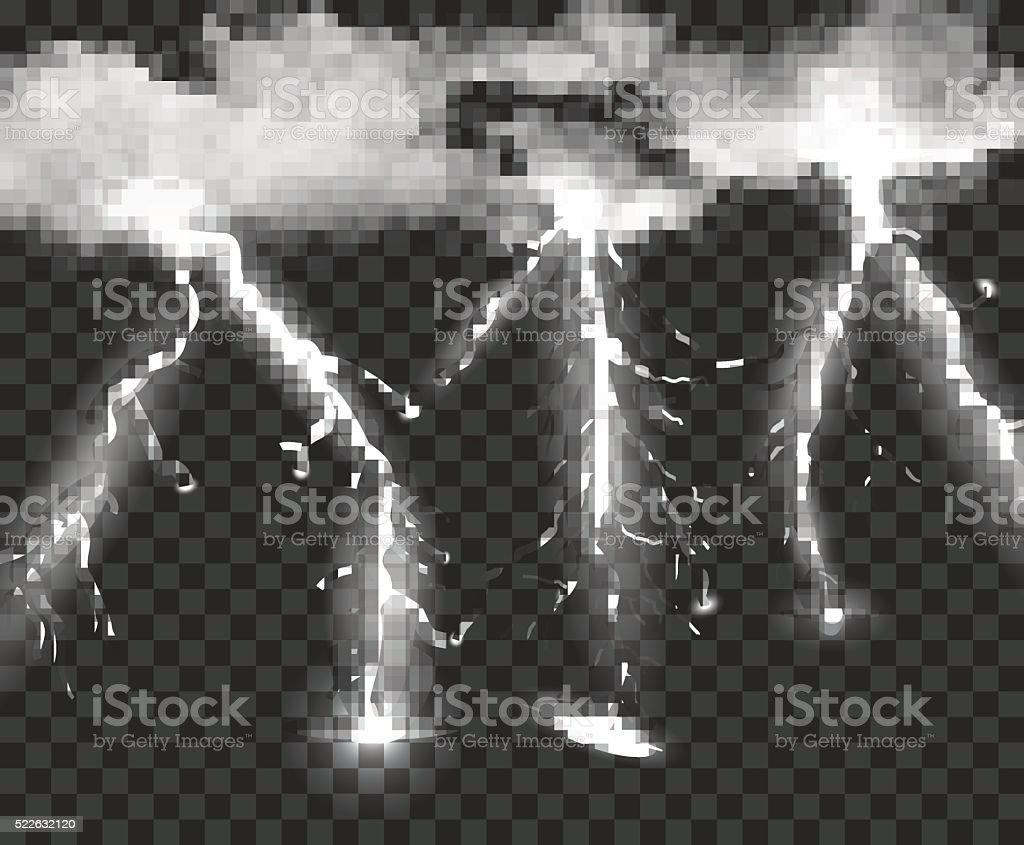 Thunderstorm Background With Cloud vector art illustration