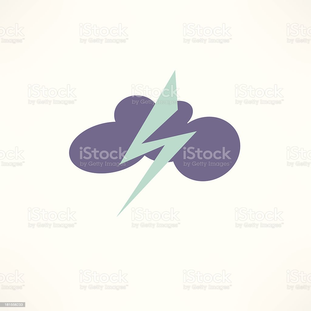 thunderstorm icon royalty-free stock vector art