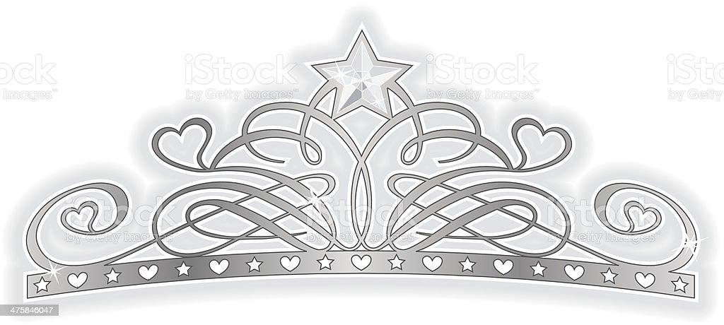 Tiara vector art illustration