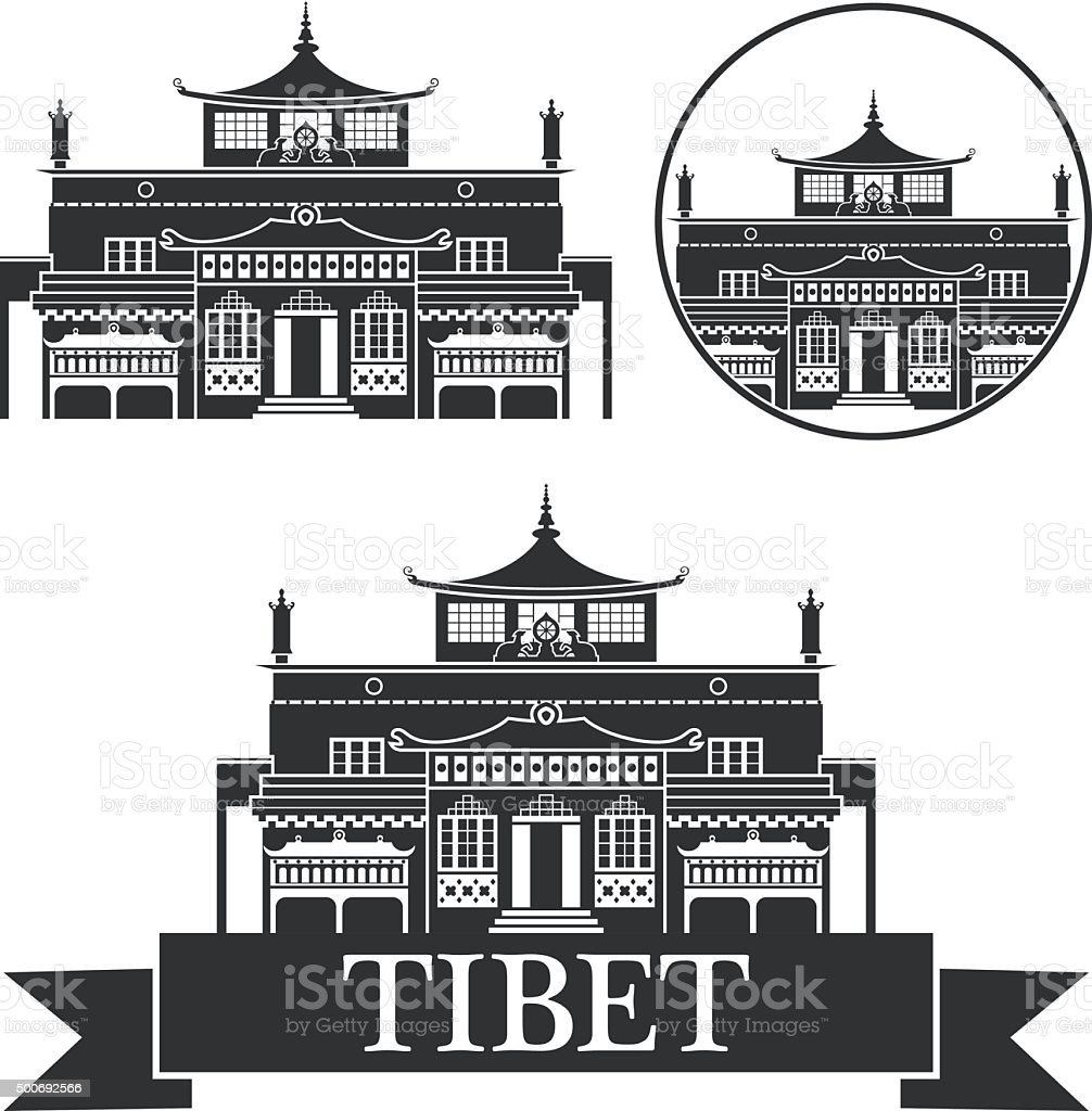 Tibet vector art illustration