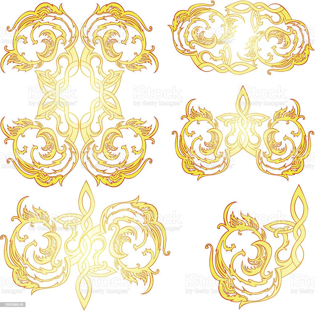 tibetan inspired elements royalty-free stock vector art
