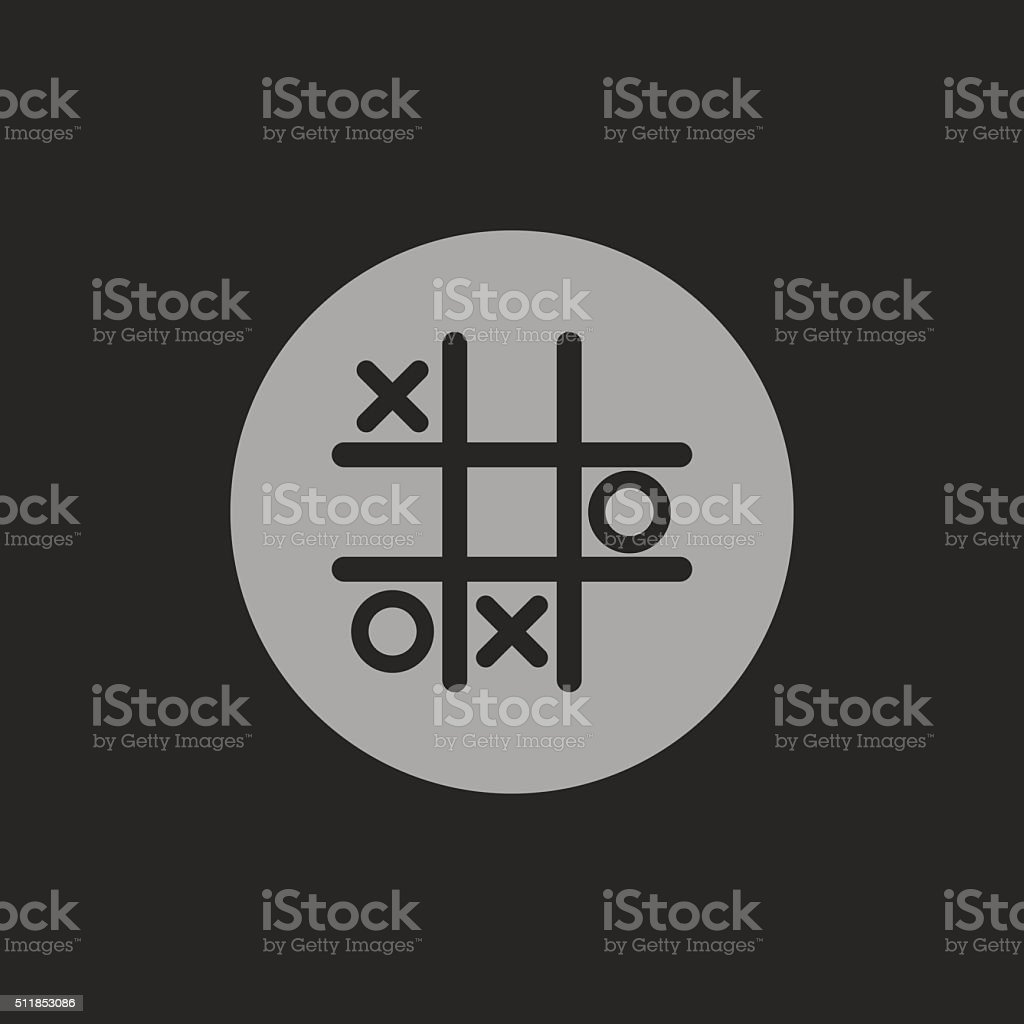 Tic tac toe game vector icon vector art illustration