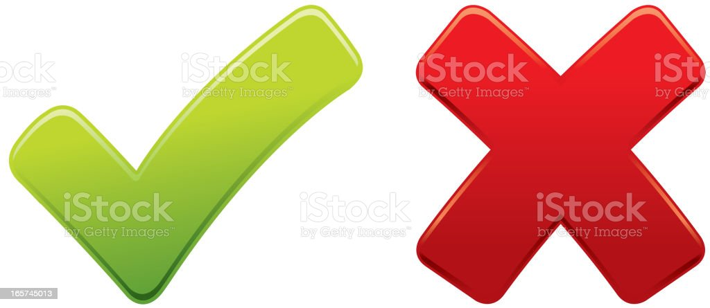 Tick and Cross Icon royalty-free stock vector art