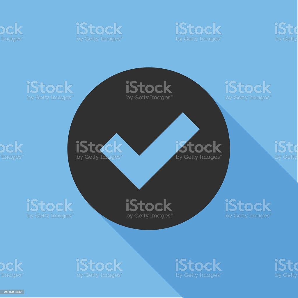 Tick Icon. Flat Design vector icon vector art illustration