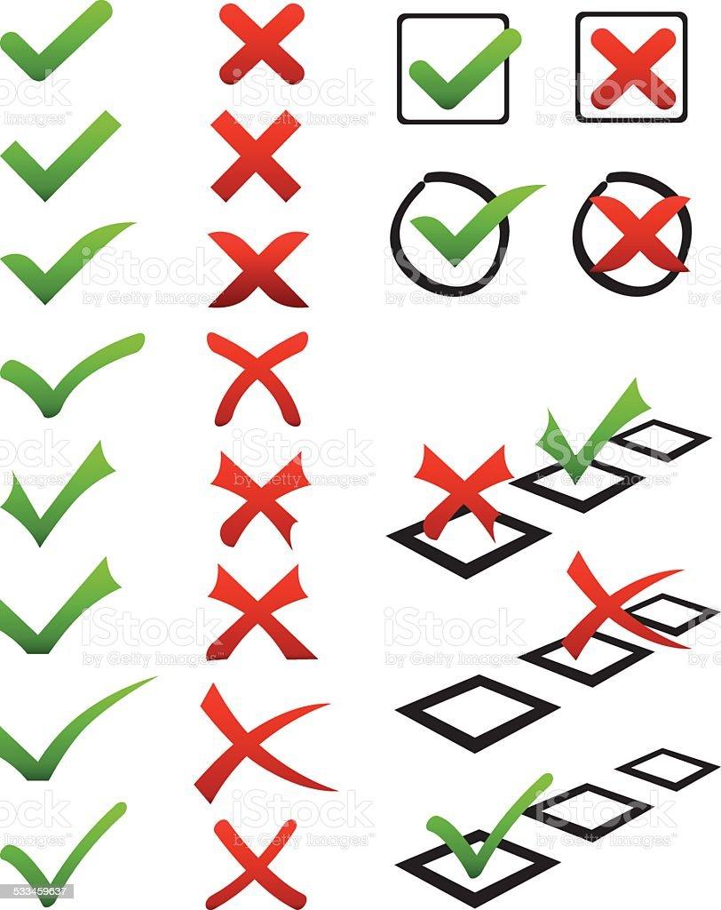Tick mark vector art illustration
