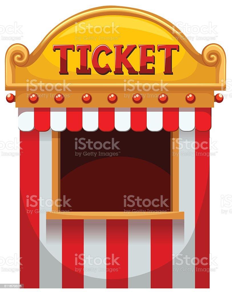 Ticket booth  carnival vector art illustration