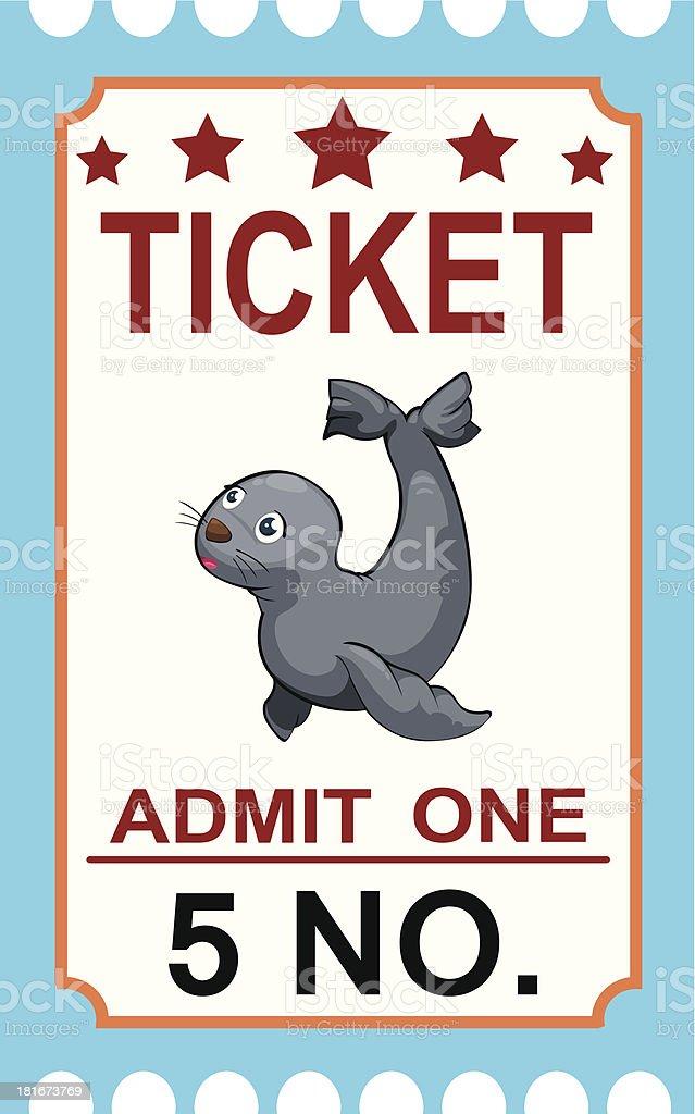 ticket circus seal royalty-free stock vector art
