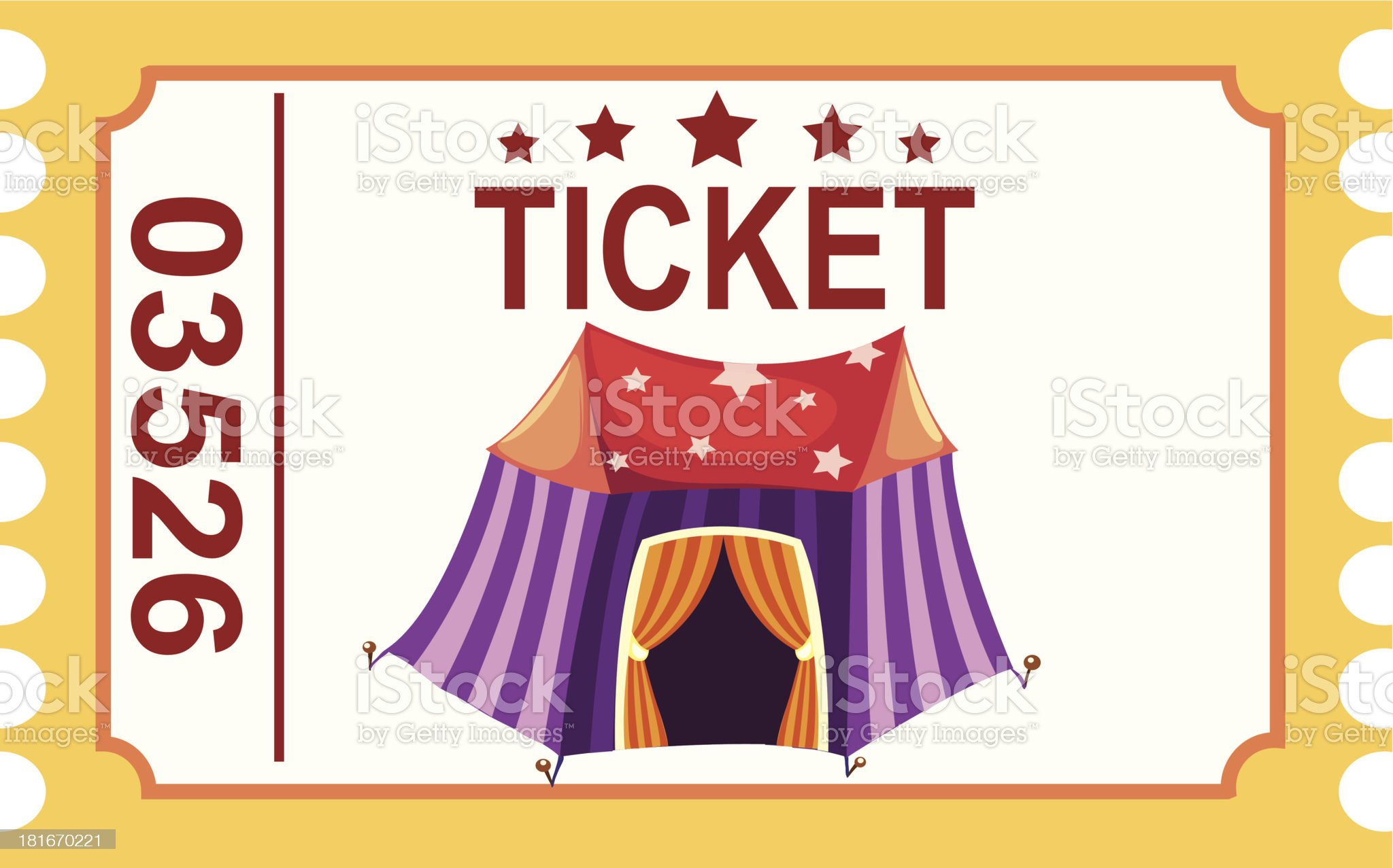 ticket circus tent royalty-free stock vector art