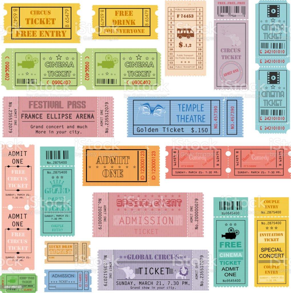 Ticket Collection vector art illustration