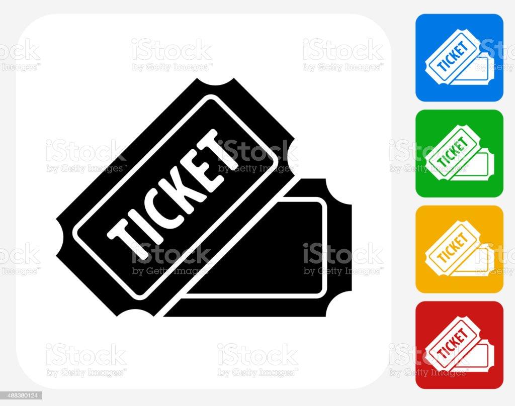 Ticket Icon Flat Graphic Design vector art illustration