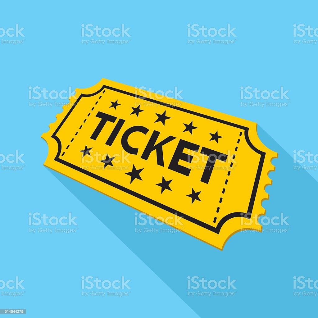 Ticket Icon vector art illustration