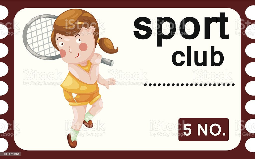 ticket sport club royalty-free stock vector art