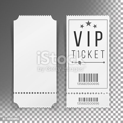Vip Ticket Template. Vip Party Premium Certificate, Black And