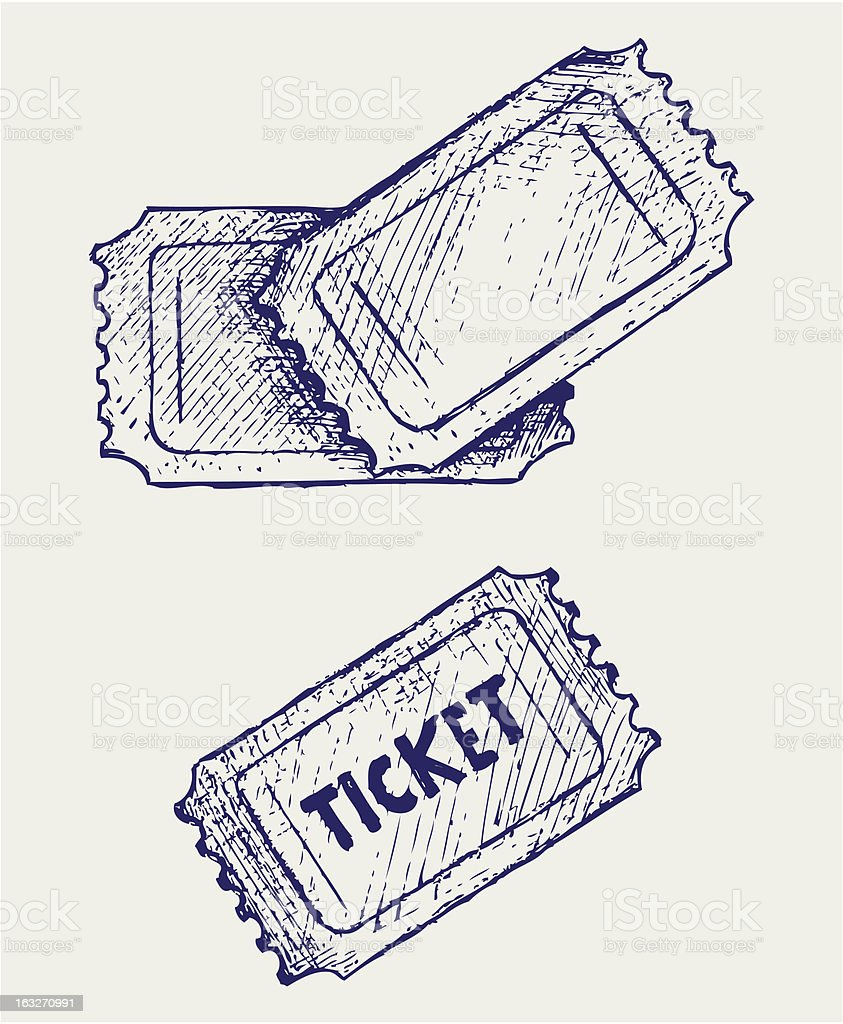 Ticket royalty-free stock vector art