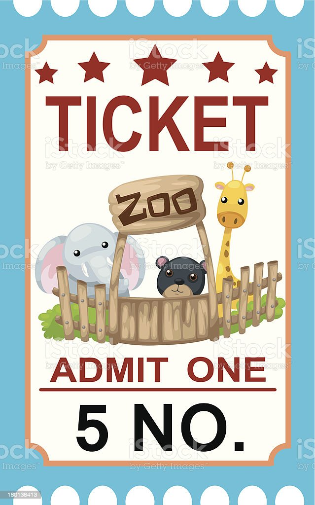 ticket zoo vector royalty-free stock vector art